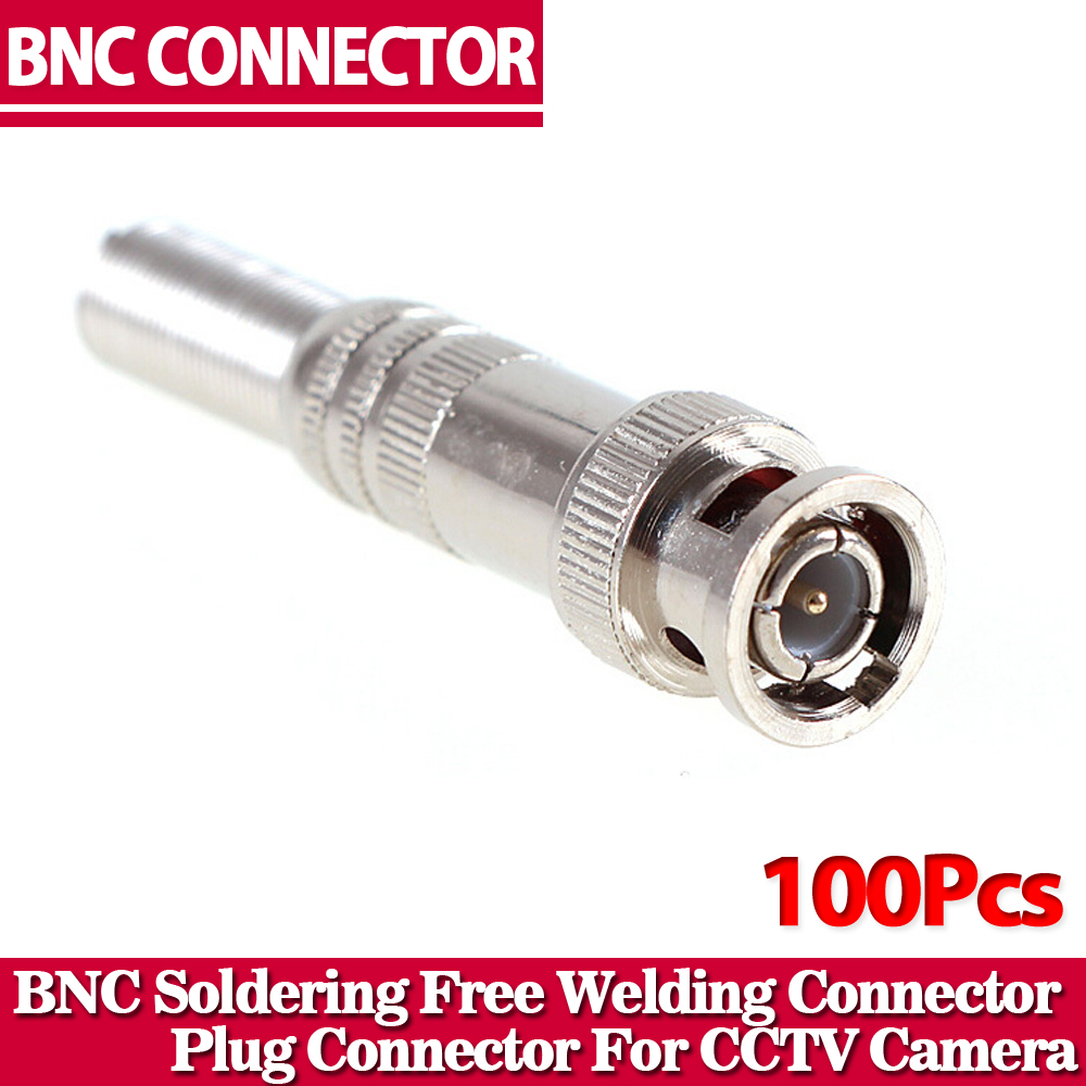 50X Twist On Coaxial Cable BNC Connector Plug Jack for CCTV Security Camera DVR