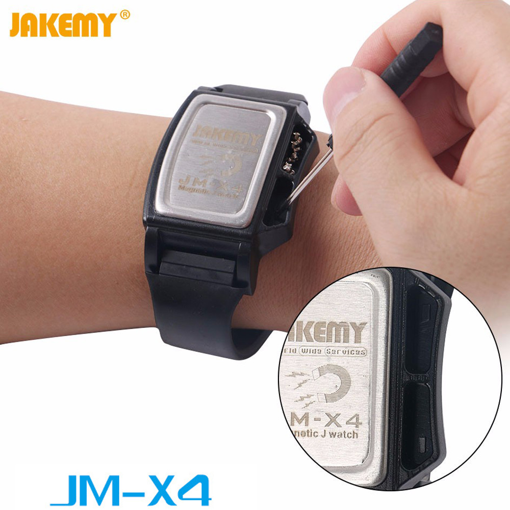 JM-X4 Components Adsorption Bracelet Powerful Magnetic Wristband Hold Small Metal Nuts Washers Screws Nails JAKEMY inhibitor adsorption and thermodynamic study of metal corrosion