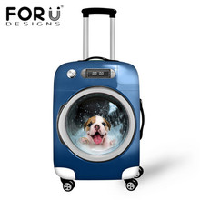 Fashion Stylish Animal Protective Waterproof Luggage Cover for Travel 18-30 inch Trolley Suitcase Dust Rain Cover Free Shipping