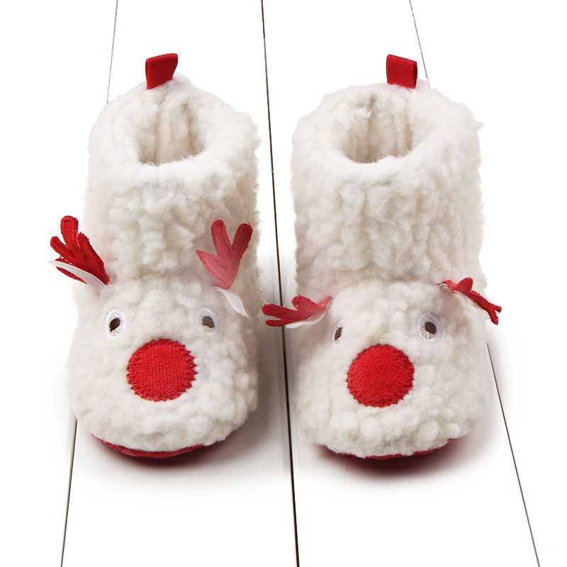 2019New Baby Christmas Shoes 0-18M Newborn Reindeer First Walkers Winter Warm Baby Christmas Gift Shoes Infant Boys Girls Boots