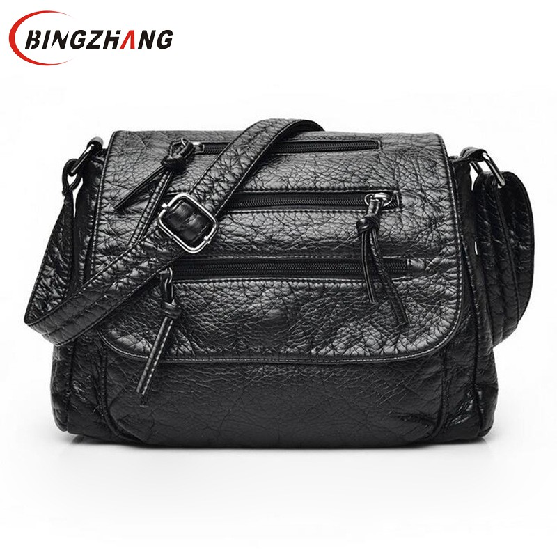 Brand Fashion Soft Leather Shoulder Bags Female Crossbody Bag Portable Women Messenger Bag Tote Ladies Handbag Bolsas L4-3113 luxury brand bag female korean version of the new female bag ms shoulder portable canvas bags women messenger bags