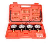 Motorcycle Universal Gauge 4 Carb Carburetor Synchronizer Set kit Vacuum Hoses Extensions 4 GL 1100 1200 CB1000 400