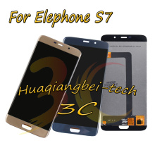 New 5.5 Black / Blue / Gold For Elephone S7 Full LCD DIsplay + Touch Screen Digitizer Assembly 100% Tested With Tracking