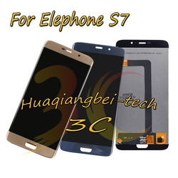 New 5.5'' Black / Blue / Gold For Elephone S7 Full LCD DIsplay + Touch Screen Digitizer Assembly 100% Tested With Tracking
