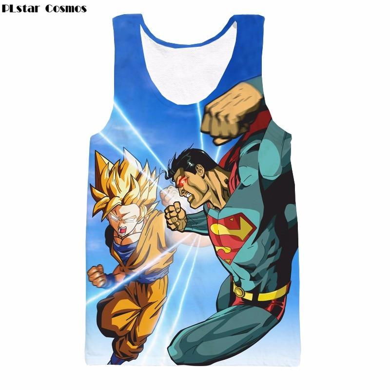PLstar Cosmos Summer hot sale Anime Dragon Ball Vest harajuku style Sleeveless T-shirt Goku 3d print Unisex casual Tank Tops