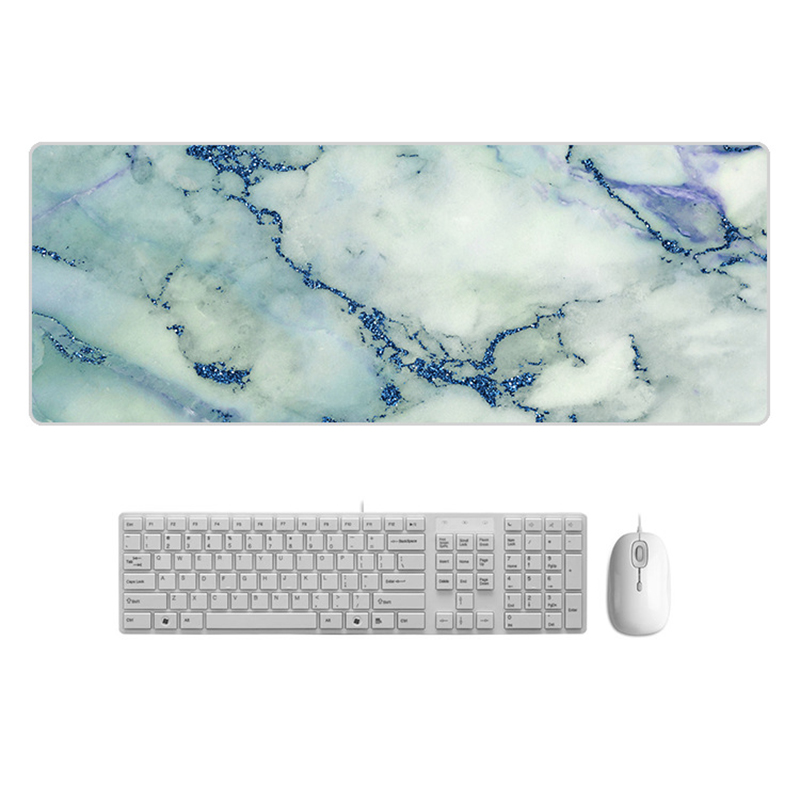 Large  Desk Pad Beautiful Soft Natural Rubber Pink Gold White marble Series Mice Pad Square Gaming Mouse Pad with Locking Edge (22)