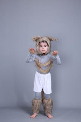 Детский костюм с милым кроликом платье для танцев платье для костюмированной вечеринки с кроликом для взрослых девочек 100-160 см(S-3XL - Цвет: wolf