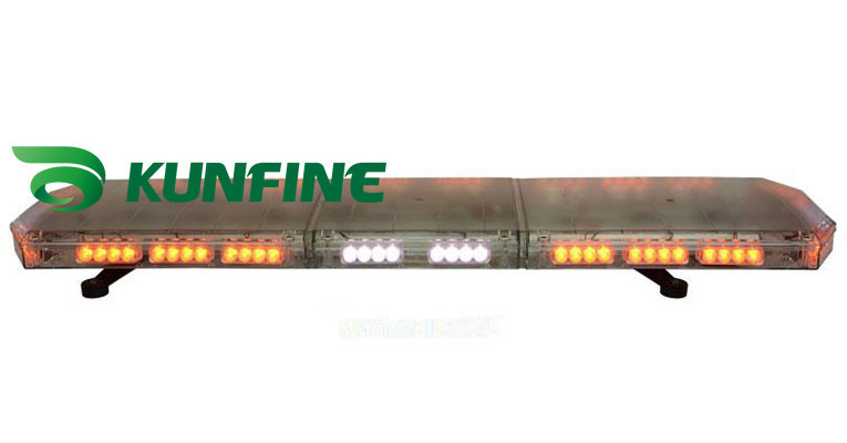 1.2M  High Power  flash traffic warning lightbar LED Emergency Warning Lightbar Police Lightbar KF8100F high intensity 120cm dc12v 88w led emergency lightbar police ambulance fire strobe warning lightbar 18flash aluminum casing