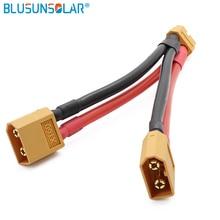Connecteur de câble parallèle XT60, pour batterie Y, pour séparateur de batterie Y 12 Awg, fils en Silicone 10cm ZD0190, vente en gros de 100 pièces/lot