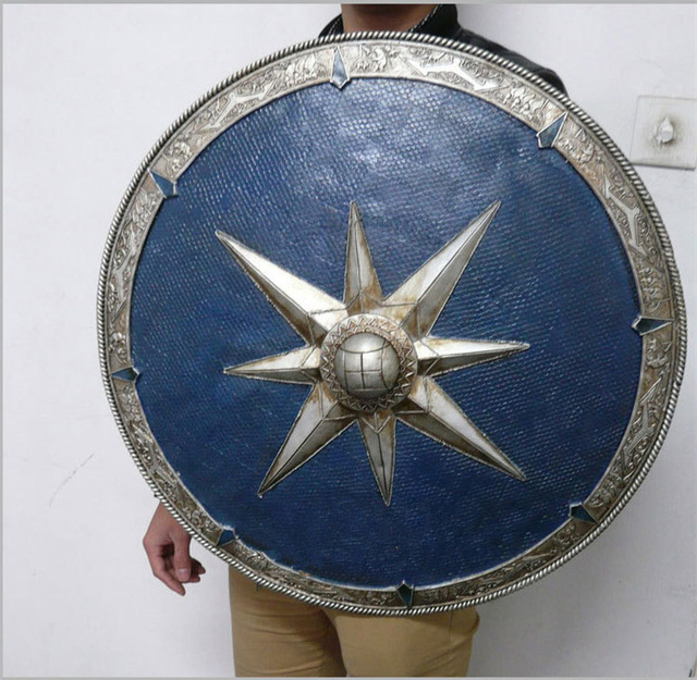 [Funny] Metal and Resin made 1:1 Scale 62cm The Legendary Shield Of Narnia weapons model adult child cosplay toy collection gift