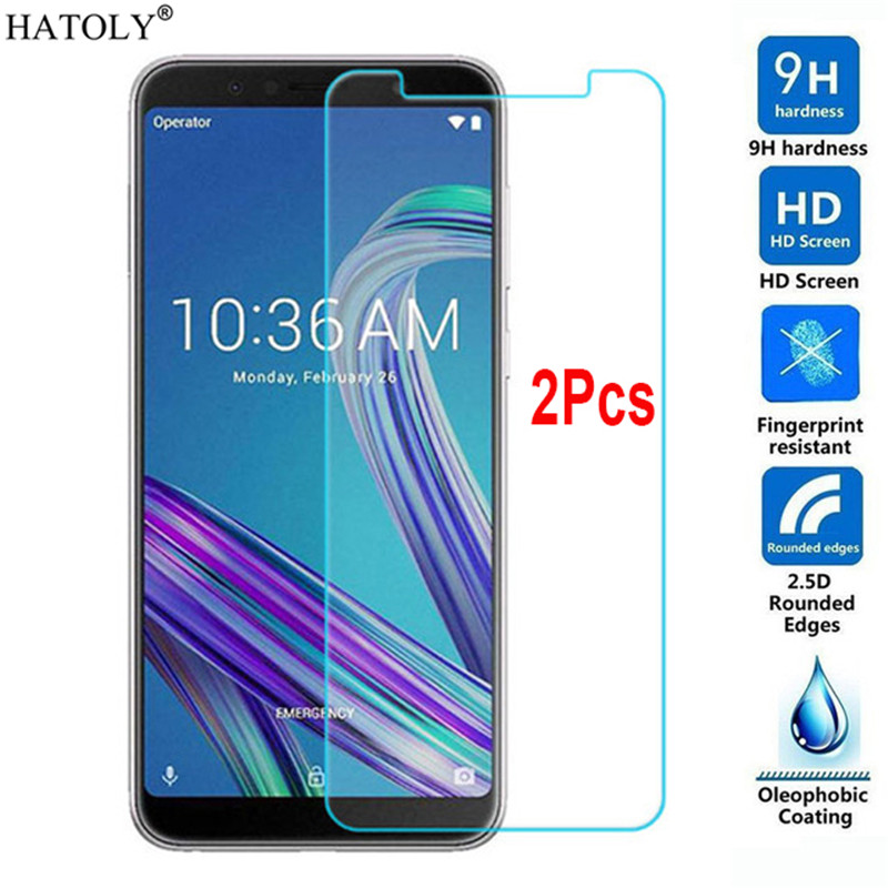 2pcs Glass For ASUS Zenfone Max Pro M1 ZB601KL Tempered Glass Max Pro M1 ZB601KL Screen Protector ZB601KL Protective Glass Film in Phone Screen Protectors from Cellphones Telecommunications
