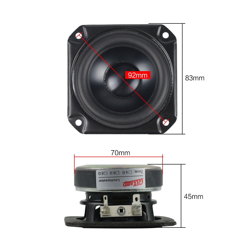 Image 5 - GHXAMP 3 INCH 4OHM Full Range Speaker Woofer Waterproof Tweeter Mid Low frequency For Peerless Speaker Bluetooth DIY 40W 1PC-in Portable Speakers from Consumer Electronics