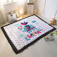 Foldable Cartoon Baby Play Mats Kids Crawling Carpet Cotton 2CM Thick Soft Floor Mat Eco friendly Safe Child Bedroom Blanket Rug