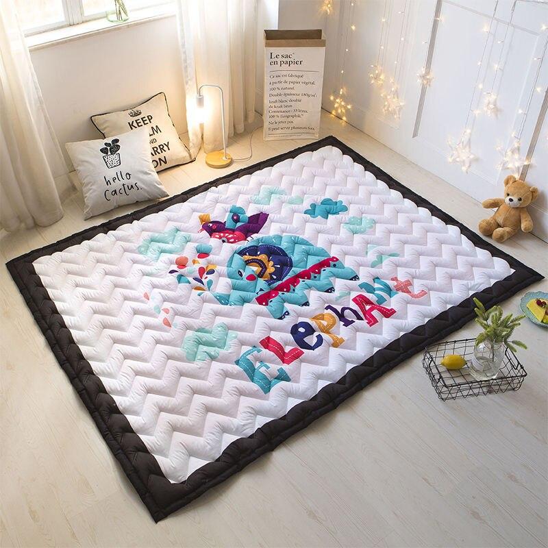 Tapis de jeu pliable de bébé de bande dessinée tapis rampant d'enfants coton 2 CM épais tapis de sol doux écologique sûr tapis de couverture de chambre d'enfant