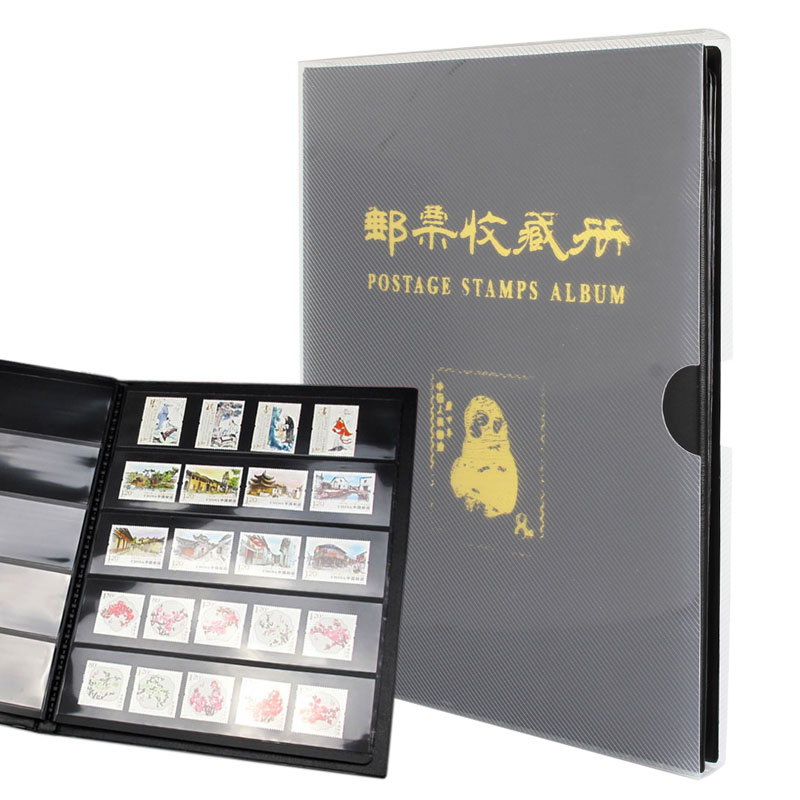Portable Postage Stamps Album Collection Storage Various Sizes Paper Money Banknote Book 8 pieces set china postage used stamps 1980 t 45 peking opera facebook
