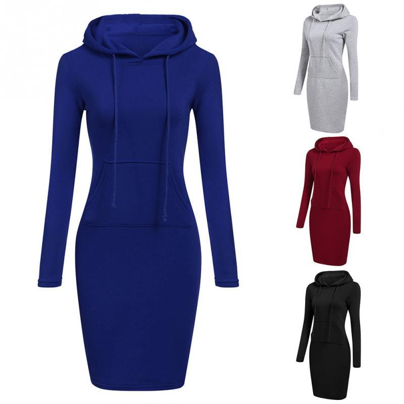 2018 New Arrival Autumn Women Sweatshirt Slim Casual Lady Long Hoodies Jumper Long Fleece Hooded Sweatshirt