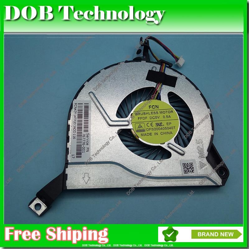Genuine New DFS200405040T 767776-001 767712-001 47Y14TP203A For HP 14-P 15-P 16-P 17-P 14-V 15-V 16-V 17-V Cooler fan 454350 001 447132 001 for dl180 dl185 g5 fan