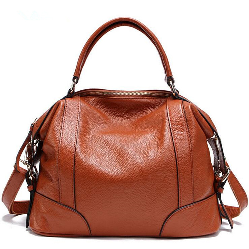 Fashion 100% Real Genuine Leather OL Style Women Handbag Tote Bag Ladies Shoulder Bags Casual Tote Cross Body Bag Large Bag fashion 100% real genuine leather ol style women handbag tote bag ladies shoulder bags wholesale price xp384
