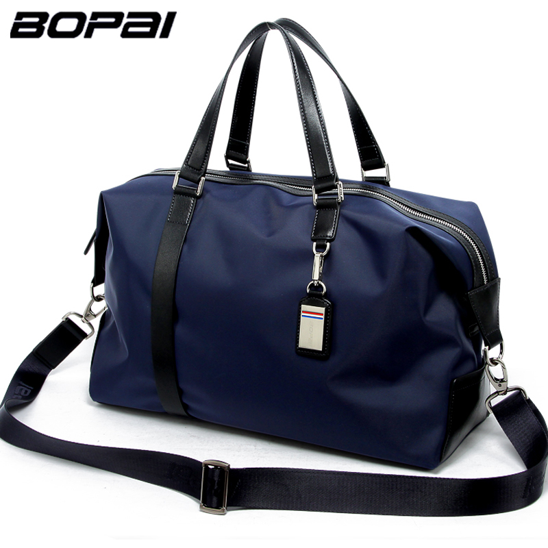 2017 Men Travel Bags Black Blue Men Tote Shoulder Travel Bag Portable Men Handbags Big Weekend