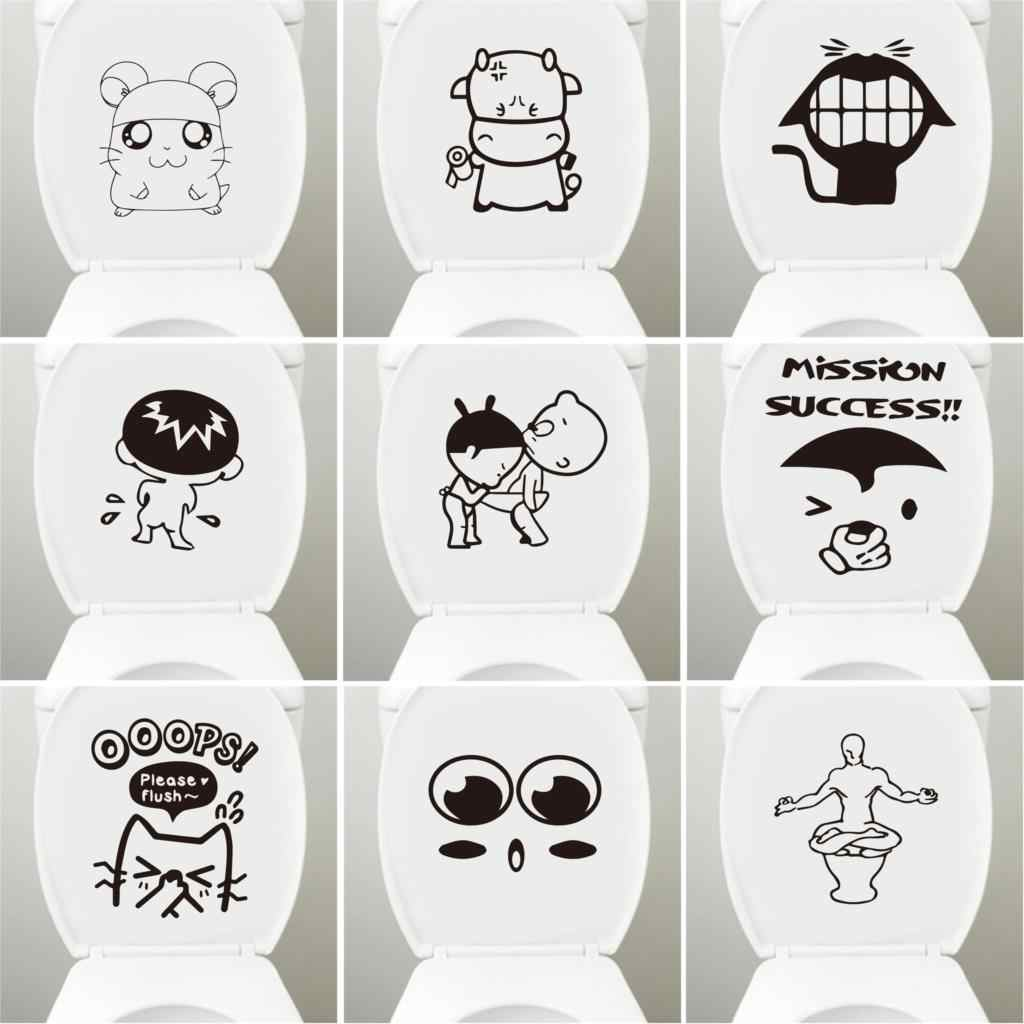 Lovely Toilet Stickers DIY Vinyl Home Decor Removable Bathroom Mural Art Waterproof Wallpaper WC Closestool wall-sticker
