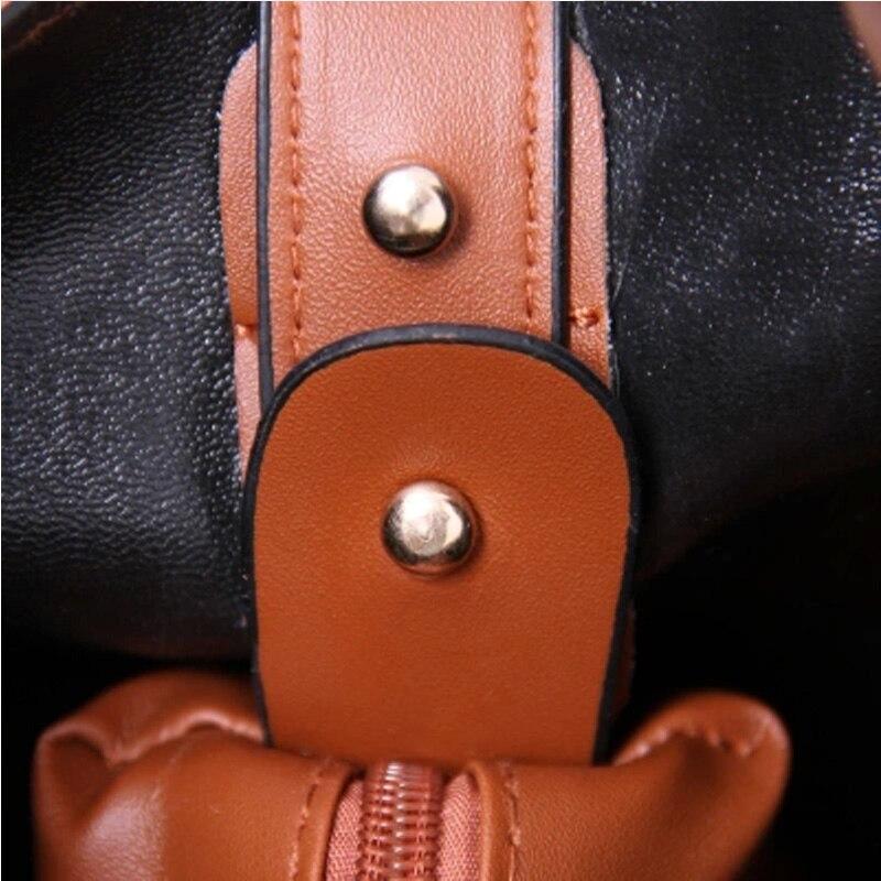 Naiste õlakott 2018 PU nahast oranž daamid kotid kootud kott - Käekotid - Foto 5
