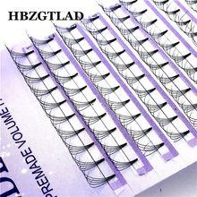 HBZGTLAD 5D русский объем фальш ресницы расширение короткий ствол предварительно сделанные вентиляторы C/D накладные ресницы из норки индивидуальные расширения 8-14 мм