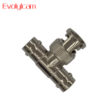 Evolylcam 10pcs/lot CCTV Connector BNC Female To Dual/2 Female T-Splitter Connectors Adapter For Security CCTV Camera System