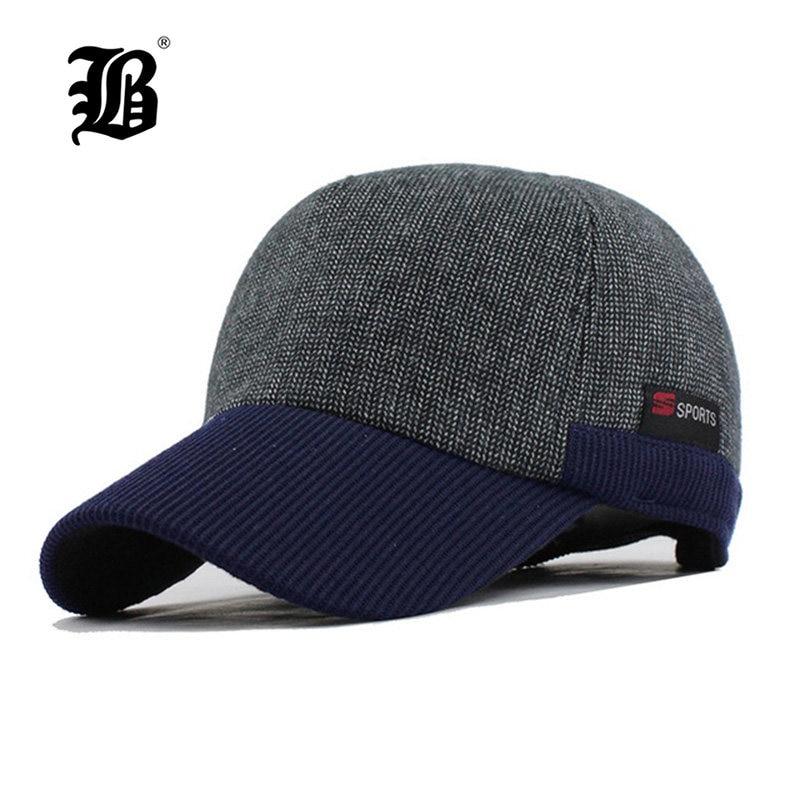 df7682524fc  FLB  Warm Winter Thickened Baseball Cap Men S Cotton Hat Snapback Winter  Hats Ear Flaps