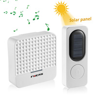 Fuers New 300M Range Solar Power Wireless Doorbell With Night Light AC 90 260V US Plug