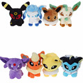 8 styles Cartoon Cute Eevee Flareon Vaporeon Jolteon Eevee Leafeon Glaceon Umbreon Espeon Baby Soft Stuffed Toys 5""