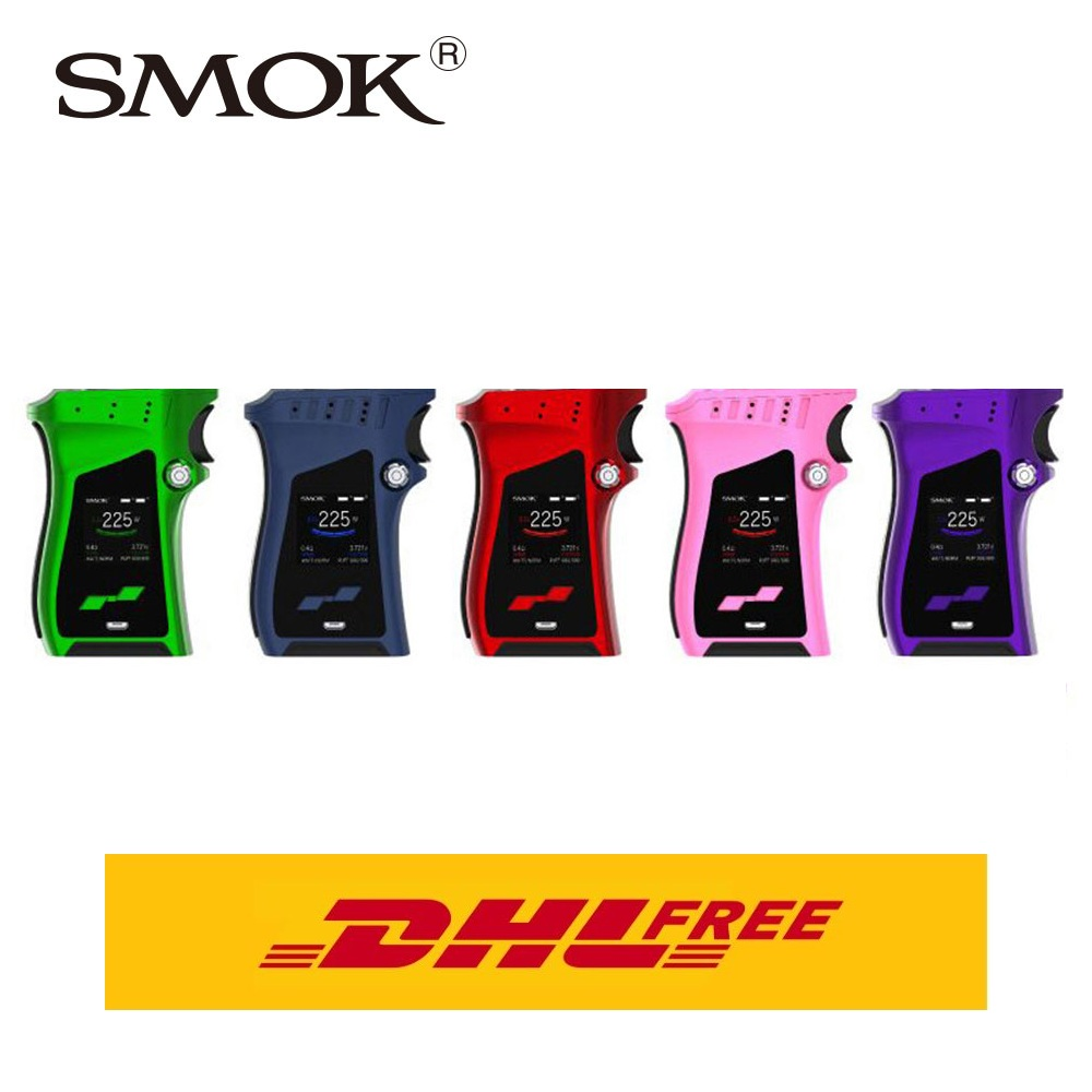 DHL Free! SMOK MAG 225W TC Box MOD Unique Gun-handle Appearance & Exquisite Trigger-like Fire Key Fit for TFV12 Prince Atomizer