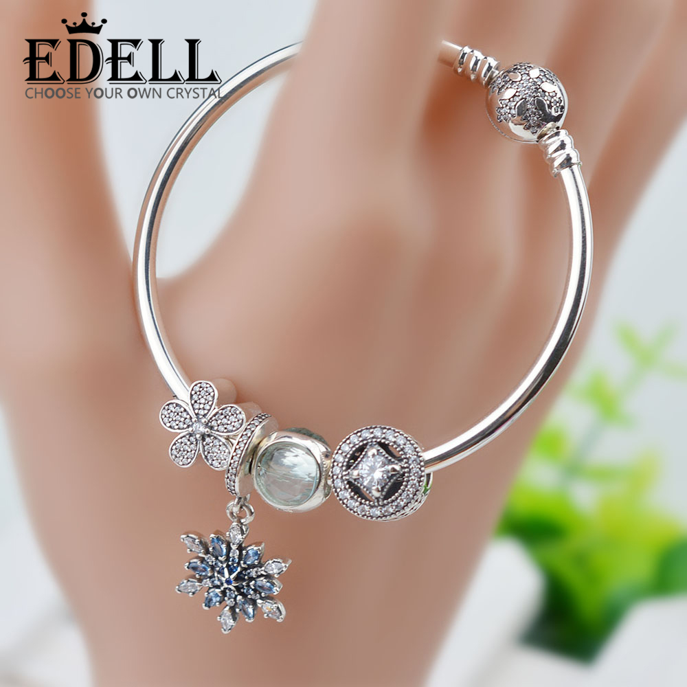EDELL Hot Sale 100% 925 Sterling Silver Beauty and the Beast Charms Beads Bangles & Bracelet Luxury Jewelry Original GiftEDELL Hot Sale 100% 925 Sterling Silver Beauty and the Beast Charms Beads Bangles & Bracelet Luxury Jewelry Original Gift