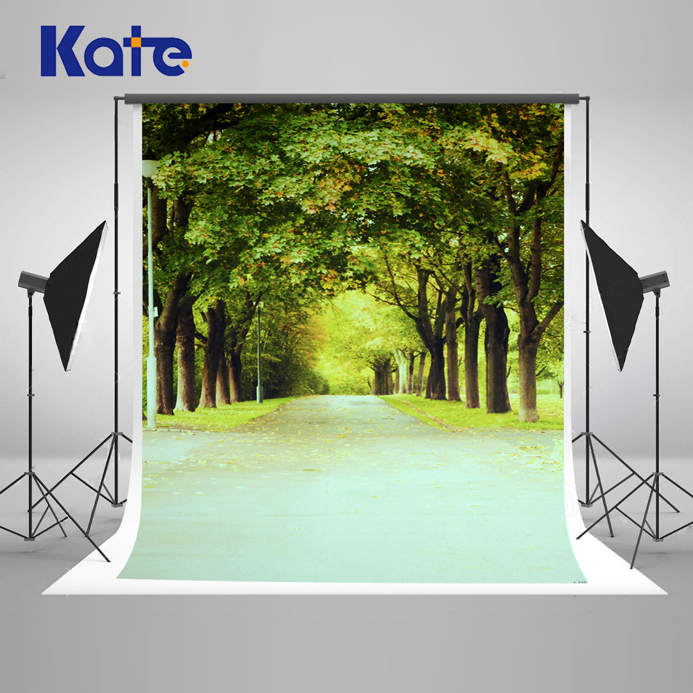 200X300CM Kate Spring Photography Backdrops Green Forest Backgrounds for Photo Studio Road Photo Background Photography Backdrop spring background photography for kids photos green screen photography backdrops children photo props custom made backgrounds