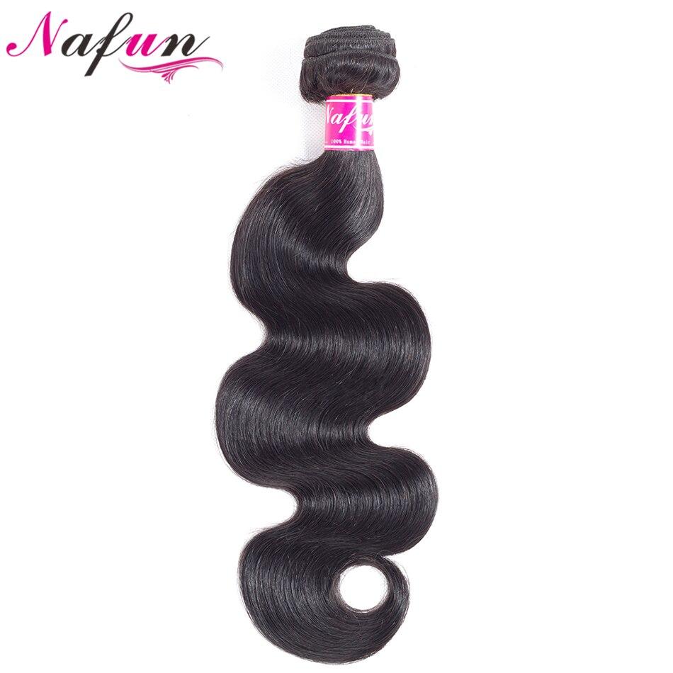 NAFUN Cheveux Brésiliens Corps Vague Cheveux 8-26 Pouce 100% Humains Cheveux Non Remy Bundles Double Trame Naturel Couleur Extensions de cheveux