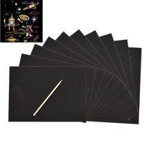 Подгруппы по 10 шт./компл. листы Рисование царапин Бумага для детей развивающая игрушка с Рисование палка