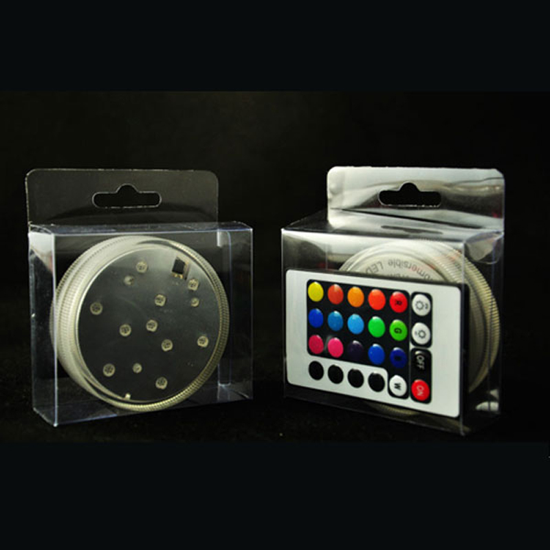 3AAA Battery Operated IR Remote Controlled 10 Multicolors SMD LED Vase Light, Submersible Led Light, Waterproof Floralyte lamps