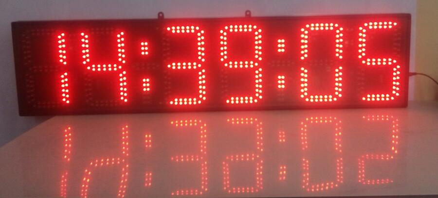 8 palců červené barvy hodiny, minuty a sekundy led hodiny s odpočítávání časovač doprava zdarma (HST6-8R)