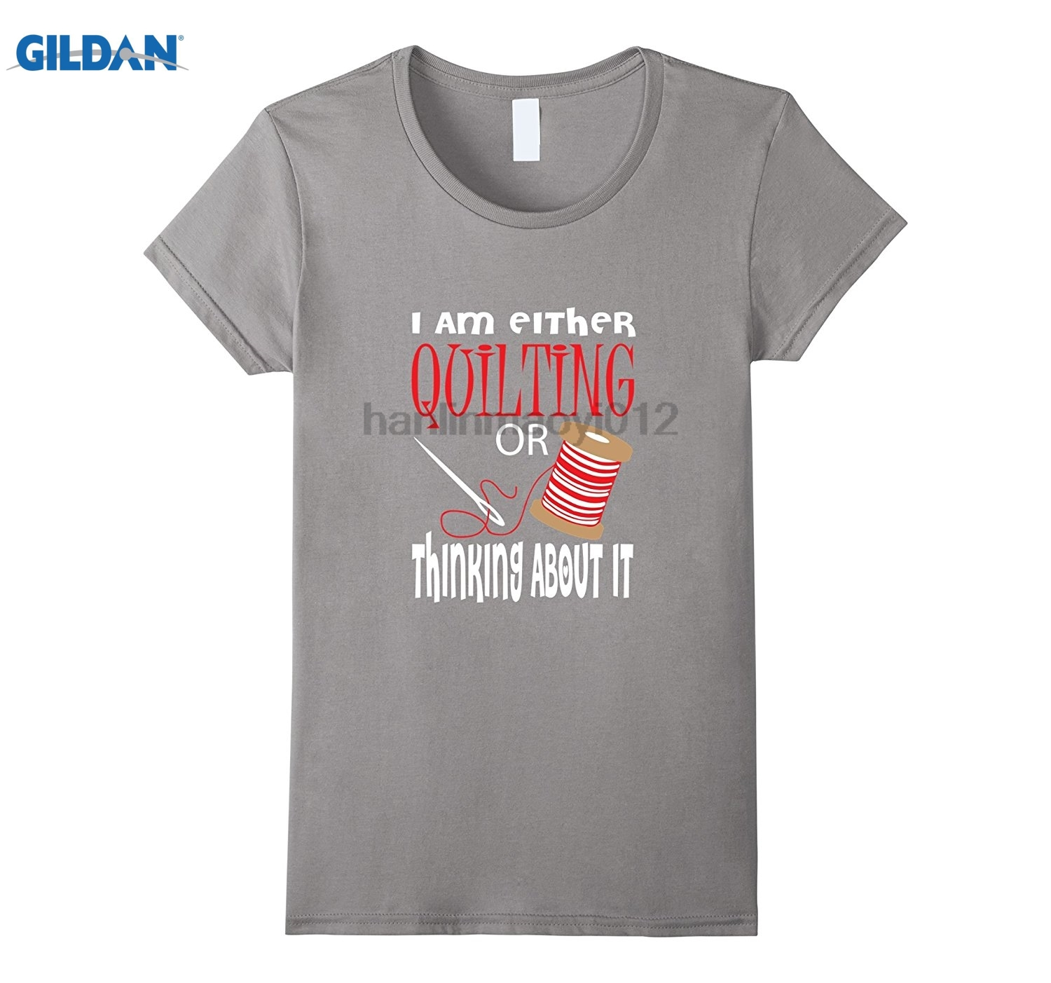 GILDAN Funny Either Quilting Or Thinking About It T-shirt Gift Video game quality effect ...