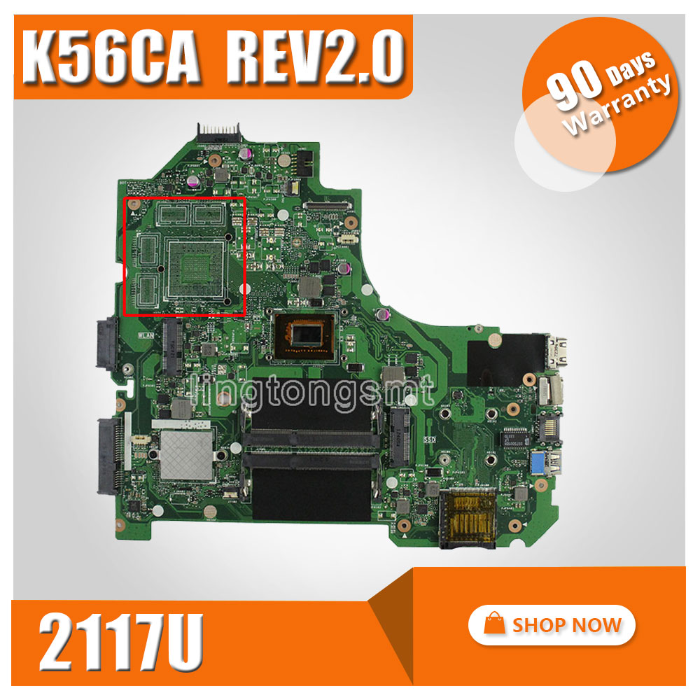 все цены на Original for ASUS S550CA K56CM K56CA motherboard 2117 CPU integrated mainboard Fully tested 100% working онлайн