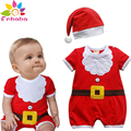 Enbaba regalos de navidad niños ropa de invierno 2016 ropa del bebé del año nuevo red one-pieza del sombrero del mono monos del bebé trajes
