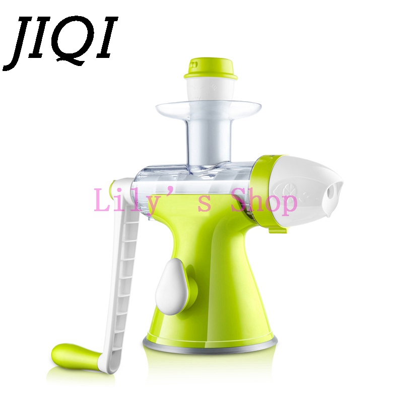 Manually exprimidor slow juicer manual Squeezer multifunction ice cream making machine household fruit vegetable Juice Extractor женские часы casio bga 230sc 4b