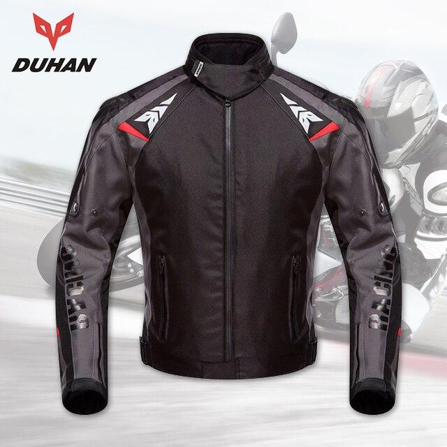 DUHAN chaqueta deportiva de la motocicleta chaquetas de los hombres impermeable de la motocicleta chaqueta de carreras de Motocross chaqueta de montar profesional Protector
