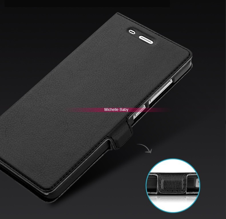 Xiaomi Mi4 pu leather flip case (5)