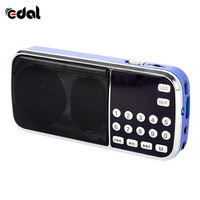 fm tf Portable Digital Stereo FM Mini Radio Speaker Music Player with TF Card USB AUX Input Sound Box Blue Black Red (3)