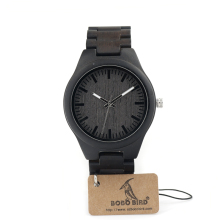 BOBO BIRD I22 Ebony Wooden Mens Watch With Luxury Tches Japan 2035 Movement Quartz Wristwatch As Gift for Men