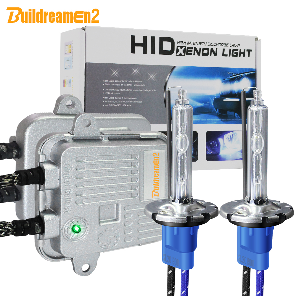 Buildreamen2 D2H <font><b>D2S</b></font> D2C High Bright Xenon Light Kit AC Ballast Bulb <font><b>55W</b></font> 10000LM Car Headlight Fog Lamp 5000K White 12V image