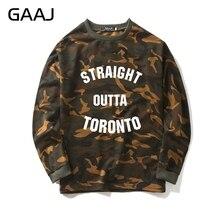 Straight outta toronto camuflaje sudadera hombres mujeres hombres Camo  Popular Skate moda abrigos ropa Streetwear marca 5caa0e43b228