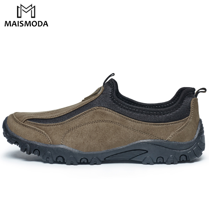 MAISMODA Hiking Shoes Men Brand Outdoor Trekking Sneakers Men 2018 Autumn Slip On Mountain Climbing Shoes Hunting Shoes YL214 kerzer outdoor shoes men autumn winter hiking boots slip on trekking shoes leather mountain climbing sneakers