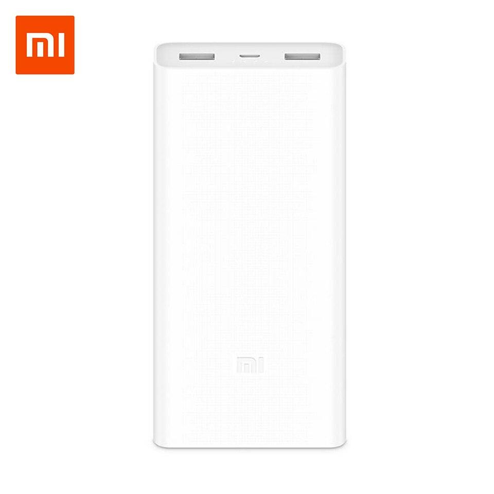 Xiaomi Banca di Potere 20000 mAh PLM06ZM Doppio Porte USB di Ricarica Veloce QC 3.0 20000 mAh Mi Powerbank Batteria Esterna portatile ricarica