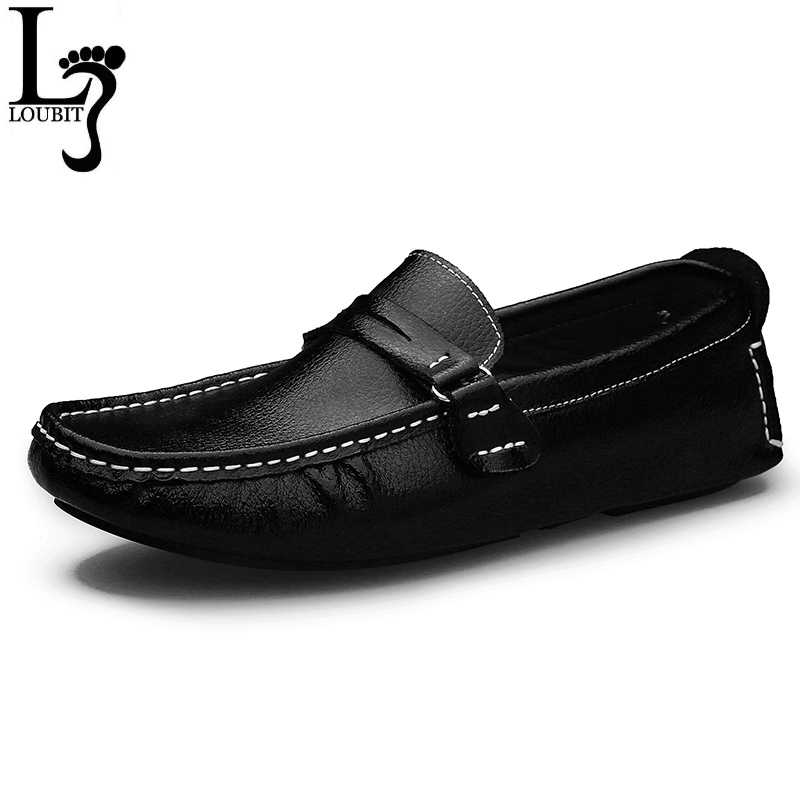 Big Size Men Loafers Shoes Leather 2020 Fashion Men casual Shoes Men Flats Slip On Plus Size 38-48 Men's Moccasins Flats